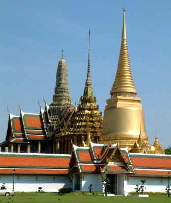 Wat Phra Kaew, Grand Palace, Temple of the Emerald Buddha and officially known as Wat Phra Si Rattana Satsadaram in ไทย