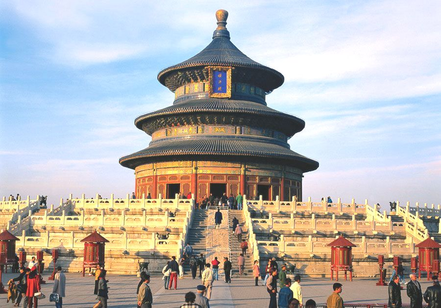 The Most Famous Temple in China, the Temple of Heaven isn't technically a temple at all; it's an Altar