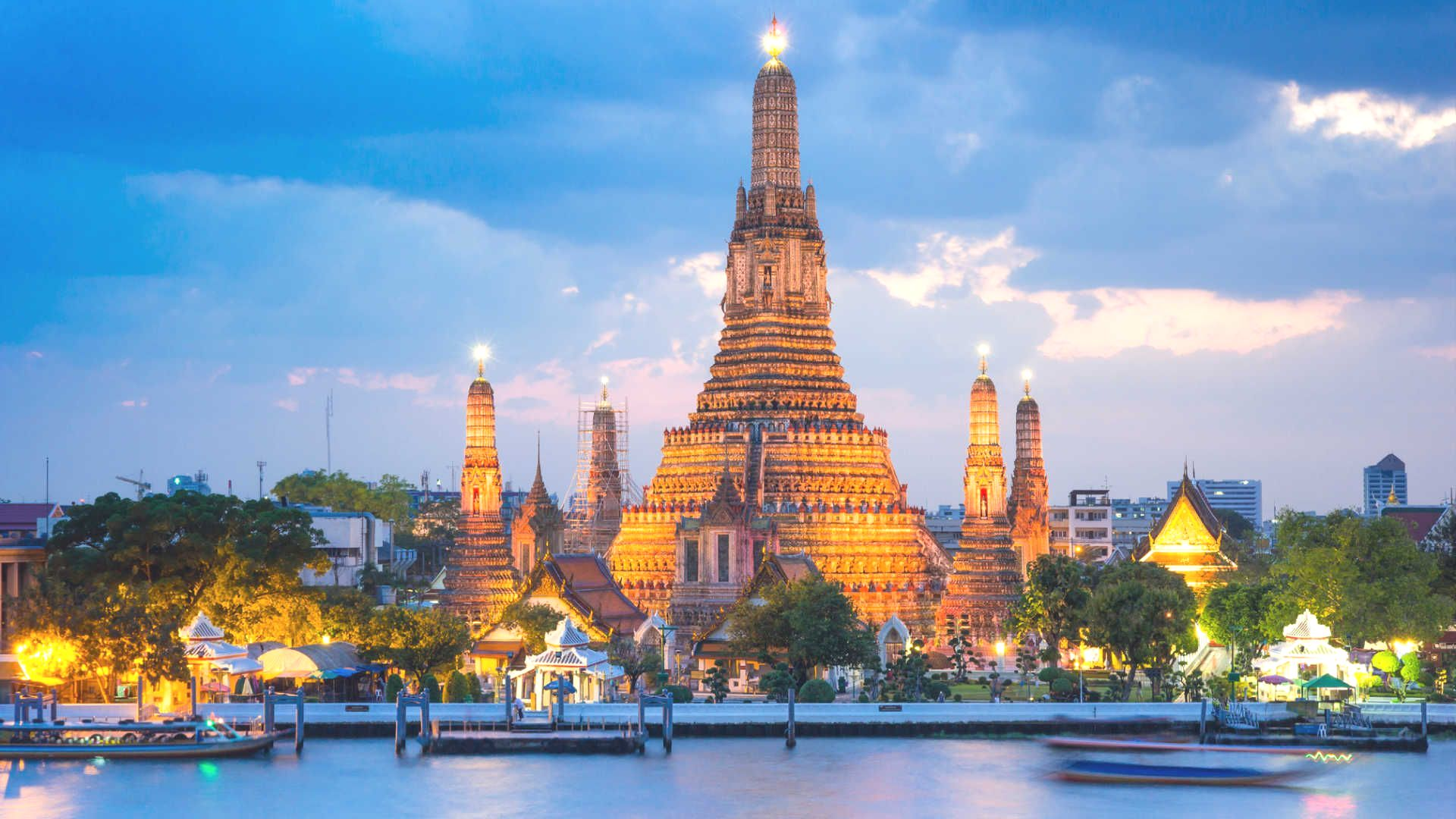 Wat Arun in Thailand is known as the Temple of Dawn and it derives its name from the Hindu god Aruna, personified as the rising sun