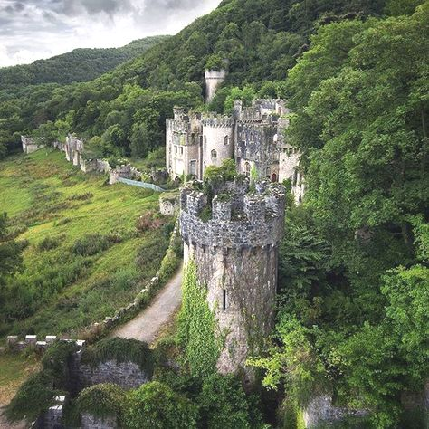 Castle in the Mountains of Wales UK