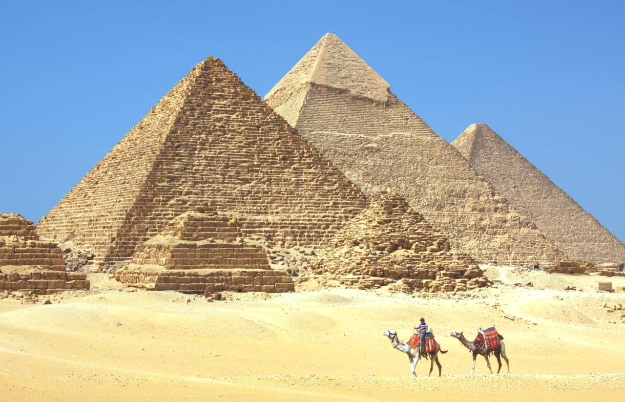 The Great Pyramids in in لمصر  Egypt