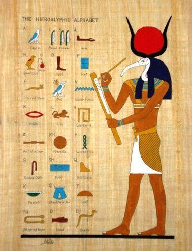 Thoth the Ancient God who came from Atlantis who was responsible for Writing amongst many other mysteries