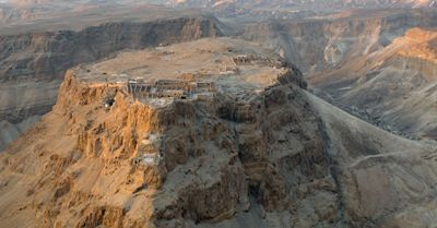 Masada Fortress to the Dead Sea in Israel