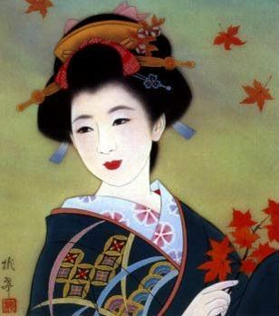 Japanese Girl in a Painting