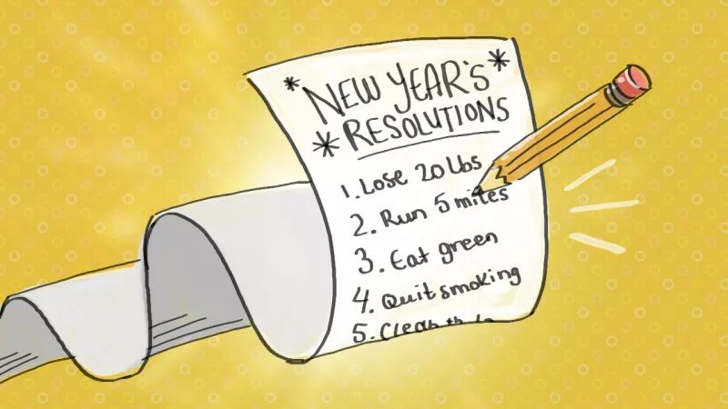 NEW YEAR RESOLUTIONS - TOP 4