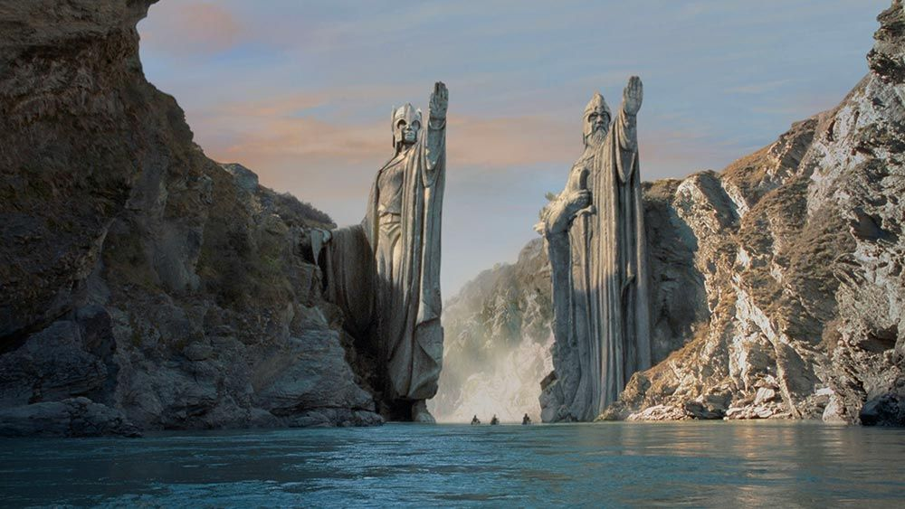 The Famous Scene at the End of Part 1 in the Lord of the Rings in New Zealand