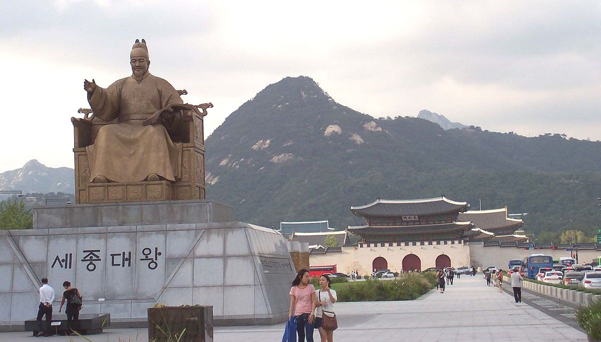 Gwanghwamun Square – King Sejong and Admiral Yi Guarding the Good People Of Korea