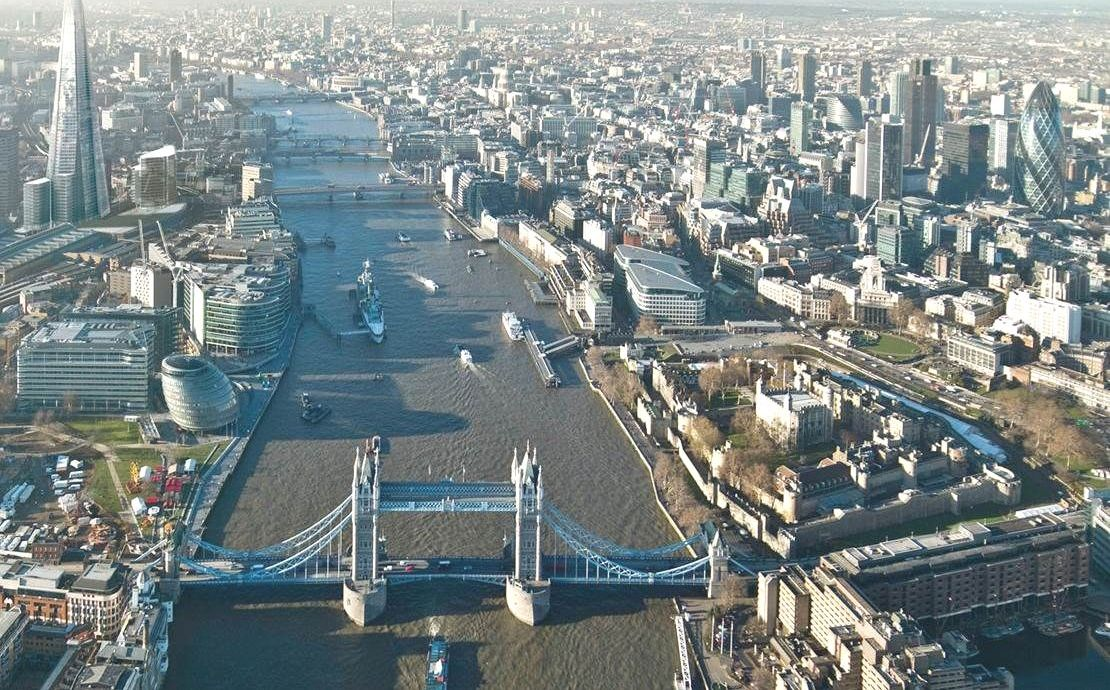 Tower Bridge & the River Thames in London United Kingdom