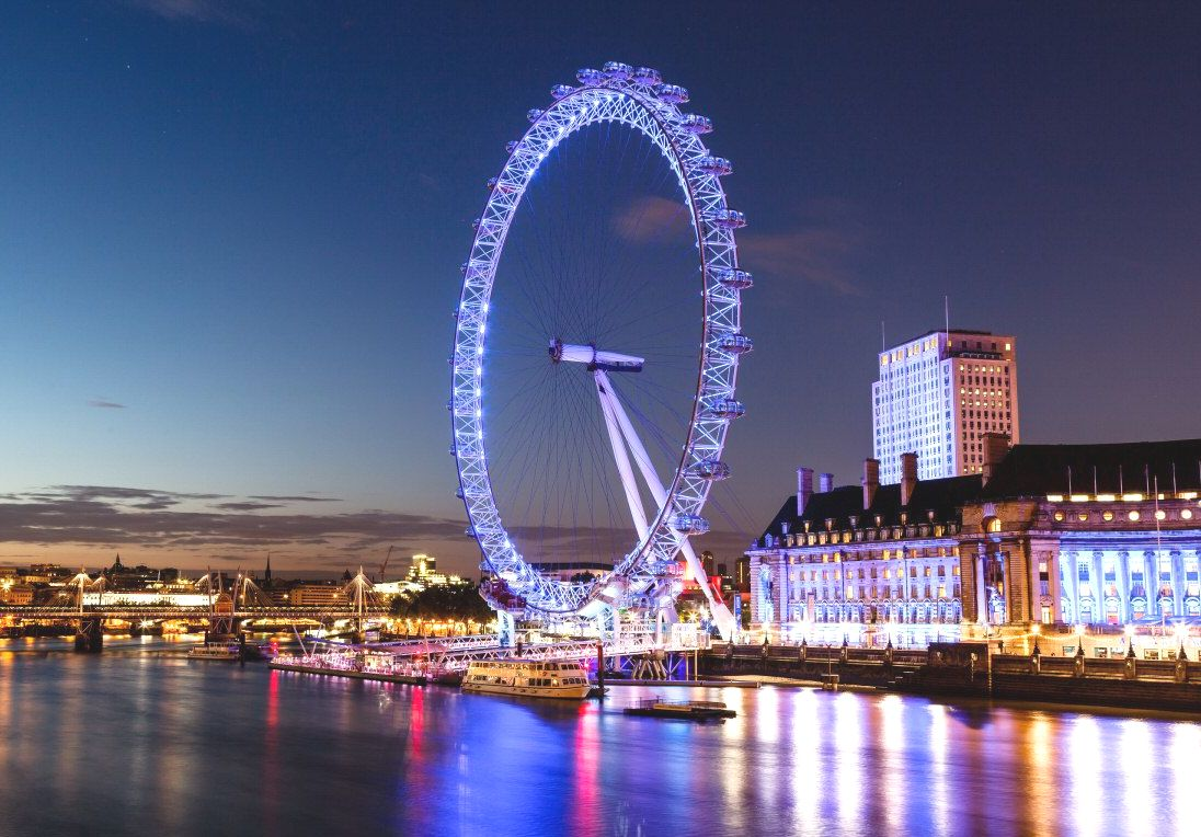 The Coca Cola London Eye in the Evening