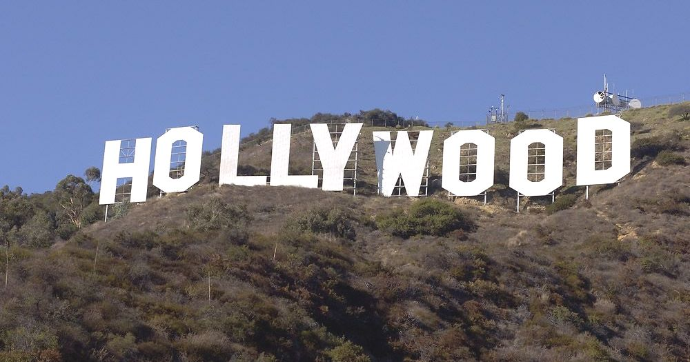 The Hollywood Sign on the Hill in Los Angeles USA