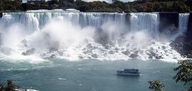 The Giant Niagara Falls on the USA Side known as the American Falls